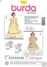 9529  BURDA PATTERN GIRLS DRESSES  WITH RUFFLED SKIRT SIZES 7-12