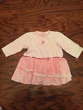 CUTE Baby Girls Catimini DRESS 86 cm US 2T Pink Long Sleeves . Darling!