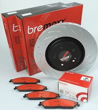 BREMBO pads & BREMAXX slotted disc brake rotors FRONT HILUX LN106 89-97 2.8d 3L