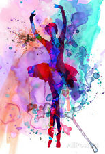 Ballerina's Dance Watercolor 3 Poster Print by Irina March, 13x19