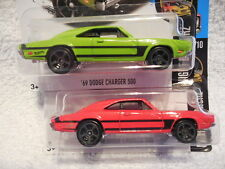 2016 HOT WHEELS #84 69 DODGE CHARGER 500 2 VARIATIONS NIGHT BURNERZ