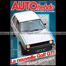 AUTO HEBDO N°339 VW GOLF 1800 GTI RENE ARNOUX KLAUS LUDWIG RALLYE SAN REMO 1982