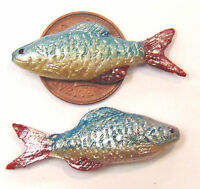 1:12 Scale 2 Loose Fish Dolls House Miniature Food Shop - Kitchen Accessory P