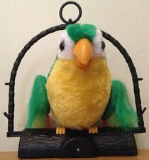 TALKING BACK PARROT. TALKS & FLAPS WINGS, REPEATS BACK EVERYTHING YOU SAY. GREEN