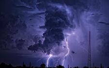 Encadrée Imprimer-biblique violet d'orage (photo orage temps art