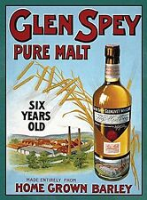 Glen Spey Pure Malt small steel sign 200mm x 150mm (og)