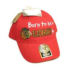 "New Chicago Blackhawks Baseball Hat Baby ""Born to be a Blackhawks Fan"" Infant"