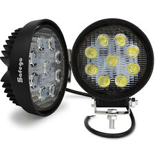 2X 27W LED WORK LIGHT Flood offroad 4X4 ATV truck tractor boat UTE bar 18W 24W
