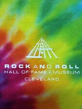 Rock And Roll Hall Of Fame And Museum Tye Dye Small 2-sided Used T-Shirt Music