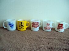 Vintage Galaxy Glasbake Milk Glass Coffee Cup Rare Private Label Advertising Lot