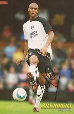 FULHAM: ZAT KNIGHT SIGNED A4 (12x8) MAGAZINE PICTURE+COA