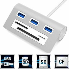 Sabrent Premium 3 Port Aluminum USB 3.0 Hub with Multi-In-1 Card Reader (... NEW