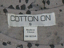 COTTON ON GreyAnimalSpotSleevelessCropTop SizeS