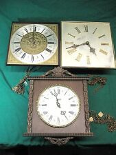 3 Vintage German Wall Clocks Oskar Heiss - Hermlee - Schatz  Parts Repair