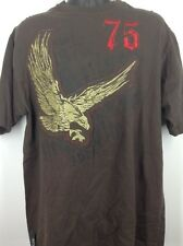 Avirex Mens TShirt L Large 75 Brown Gold Eagle Shirt