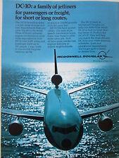 4/1973 PUB MCDONNELL DOUGLAS AVION DC-10 AIRLINER AIRLINES ORIGINAL AD
