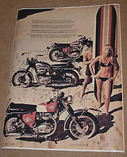 1967 BSA VINTAGE MOTORCYCLE AD POSTER 36x27 STYLE B