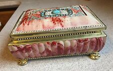 VINTAGE BLUE BIRD CONFECTIONERY TIN FOOTED BOX WORCESTERSHIRE ENGLAND H. Vincent