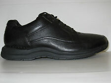 ROCKPORT EDGE HILL BLACK LEATHER COMFORT WALKING SHOES MEN WIDE 9 / 8.5 / 42.5