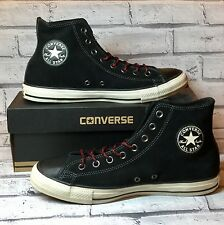 CONVERSE MEN'S HI TOPS BLACK / PAPAYA SUEDE LEATHER SIZE UK 8 / EUR 41.5 150674C