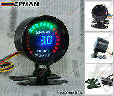 "Epman RACING 52MM 2 ""ANALOGICO DIGITALE LED Turbo Boost Gauge Meter CON SENSORE"