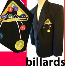 BILLIARD pool jacket patch 8 eight ball snooker table stick cue rack vintage