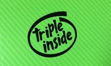 Triple Inside for Triumph Speed Triple Street Triple Decals Stickers PAIR #178A