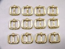 LEATHER CRAFT BUCKLES~~#50 ROLLER BUCKLE~~SOLID BRASS~~ 3/4 INCH SIZE~~(12) QTY