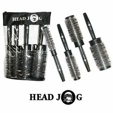 Head Jog Quad Hair Brush Set x 4 Heat Retaining Radial Brushes Hairdressing