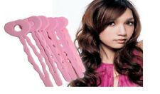12 Foam Wavy Hair Rollers Sleep In Curler Styling Curls Bendy Curl Black Pink