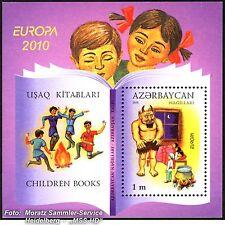 Azerbaiyán Azerbaijan Europa cept 2010, libros infantiles, bloque **