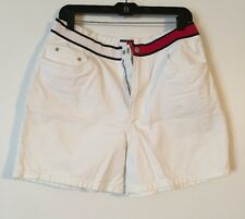 Vintage 90s Tommy Hilfiger Denim Logo White Shorts