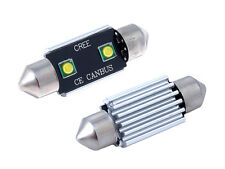 2 x 12v 36mm sv8.5 1w Lampadine a Led Cree Bianco CAN-BUS Errore libero