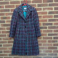 Per Una Marks & Spencer Mohair Wool Plaid Check Coat Vintage Style 10 On Trend