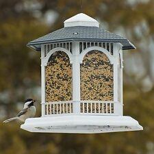 Wild Bird Feeder Outdoor Porch Seed House Garden Window Gazebo Birdfeeder Perch