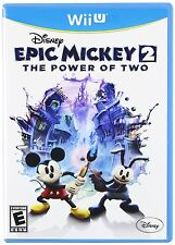 Disney Epic Mickey 2: The Power of Two - Wii U (2 Player Co-Op/USA Version) New