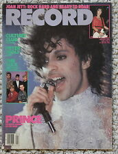 RECORD magazine January 1985 PRINCE Rogers Nelson Joan Jett Culture Club FN