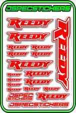 REEDY RC ESC MOTOR BRUSHLESS SERVO CAR STICKER DECAL A5 JSPEC RED W R/C DRIFT AE