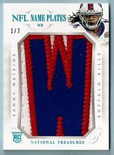 SAMMY WATKINS 2014 NATIONAL TREASURES NFL NAME PLATES GAME WORN LETTER PATCH 1/7