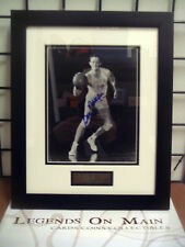 George Mikan Minneapolis Lakers Signed 8x10 Framed Double Matted Photo