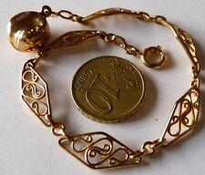 ANTIQUE VINTAGE ART DECO BANGLE / BIJOU ANCIEN / BRACELET BRELOQUE / EN PL OR