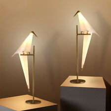 Nordic LED Paper Crane Bird PVC Loft Bedroom Table Desk Floor Lamp Lighting New