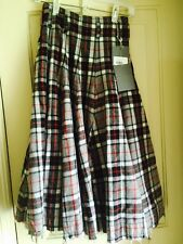 NWT ALEXANDER McQUEEN Womens Pure Wool Tweed Long Skirt With Pockets Size 38