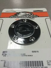 Harley-Davidson Screamin' Eagle Timer Cover SILVER ON BLACK TOURING SOFTAIL DYNA