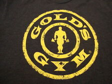 Gold's Gym Bodybuilding Weightlifting Workout Body Building Lifting T Shirt M