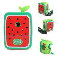 Pencil Sharpener Rotary Hand Crank Manual Desktop School Stationery Watermelon