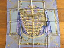 "Auth Hermes Scarf Shawl Tuch CARRE ""BRANDEBOURGS"" 90cm"