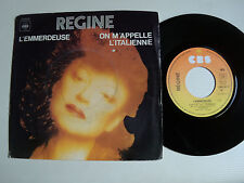 "REGINE : L'emmerdeuse / On m'appelle l'italienne 7"" 45T 1978 French CBS 6247"
