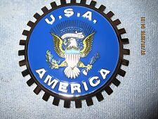 NEW USA WITH AMERICA  EAGLE-CAR GRILLE EMBLEM BADGES
