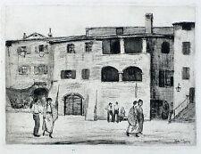 HANS SCHLEGEL - Torri Gardasee - Radierung 1912